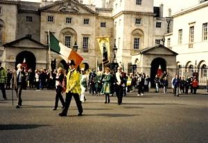 4. 1990-2000 - Bill Aulsbury leading London St Patricks Day Parade 1997